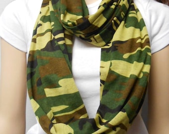 Camoflauge  Infinity Scarf SUPER Soft Jersey Knit