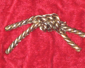 Vintage Knotted Rope Brooch