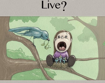 Children's Book, How Do The Animals Live,  written and illustrated by C. Spliedt
