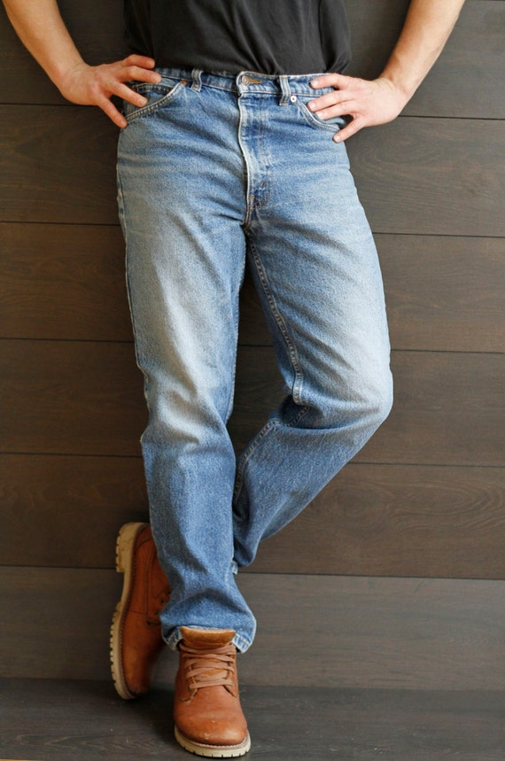 Vintage Men's Circa 80s Levis Straight Leg Jeans Retro