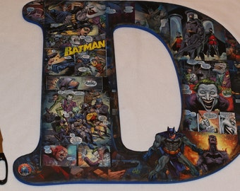 """11"""" - 18"""" - Batman Personalized Letter Set - Personalized by name, color and character!"""