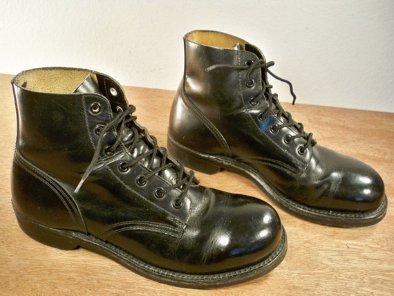 vintage biltrite cork soles black leather combat
