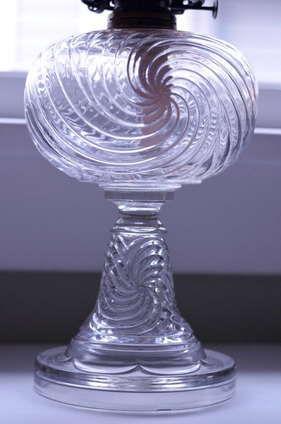 Antique Hurricane Lamp- Queen Anne No 2- Home Decor, Lighting
