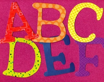 ABC Capital Letter Alphabet Applique Template