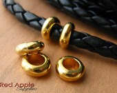 Ring spacer slider finding for 5mm leather cord, 5 mm Leather spacers findings, washer 3 pcs