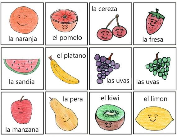 coloring pages las frutas spanish - photo#21