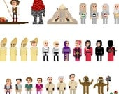 INDIVIDUAL: Pixel (8 bit) 4th Doctor Who Poster - Part 1 or Part 2