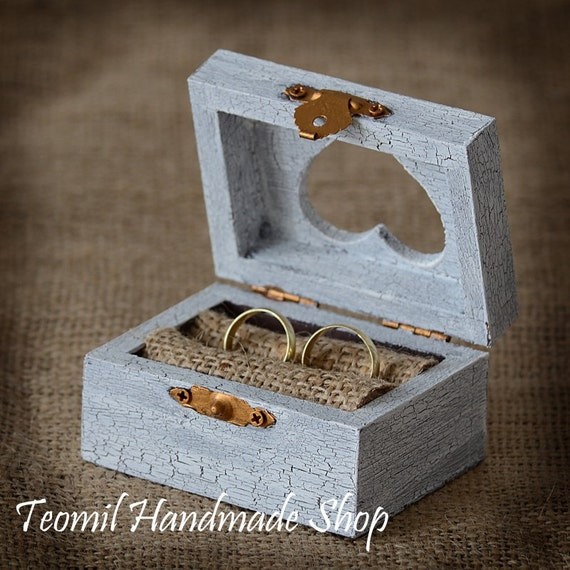 Wedding Ring Box Ring Bearer Ring Pillow Rustic Vintage