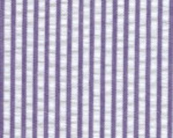 Purple and White Stripe Fabric Finders Seersucker