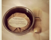 SHAVING GIFT SET ( shaving bowl, a shaving bar and a boar shaving brush) Fathers Day Shaving Gift Set