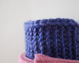 Sale- Royal Blue Knit Boot Topper Cuffs, Knit Boot Extenders, Knit Boot Socks