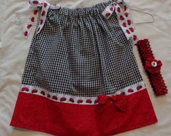 Baby Girl's Pillowcase Dress with Matching Hair Bow