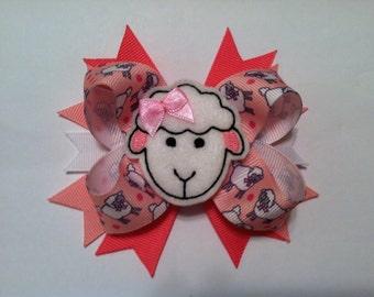 Sheep Felt Bow