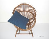 RESERVED LISTING Mid Century Wicker Armchair made in Italy