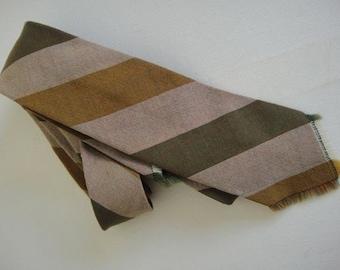 Vintage Soft Greens Woollen Necktie.