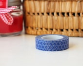 geometric blue clouds and hearts washi tape, perfect for your projects