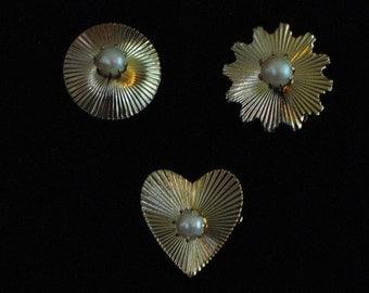Coro Pearl Pins- Set of 3