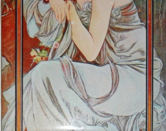 Popular items for mural art on etsy for Art nouveau tile mural