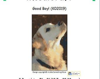 MosaiCraft Pixel Craft Mosaic Art Kit 'Good Boy' Labrador (Like Mini Mosaic and Paint by Numbers)