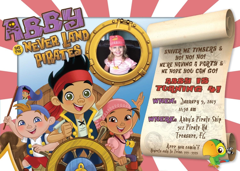 Jake And The Neverland Pirates Birthday Invitations – gangcraft.net