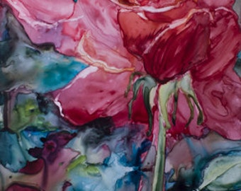 Heartfelt Rose (Watercolor on YUPO)