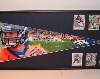 Denver Broncos Tim Tebow Pennant & Cards...Custom Framed!!!