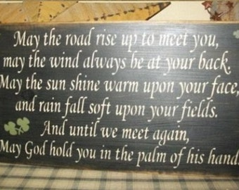 IRISH BLESSING primitive sign