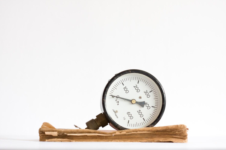 Vintage pressure gauge industrial steampunk decor kpa - Steampunk pressure gauge ...