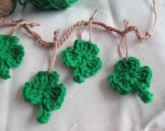 Shamrock garland / St. Patrick's Day Garland / good luck garland