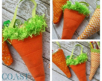 CARROT TREAT BAGS Machine Embroidery