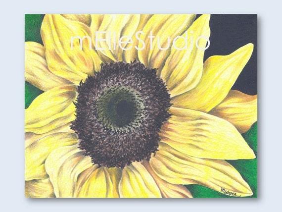 Items similar to girls bedroom art sunflower decor for Sunflower bedroom decor