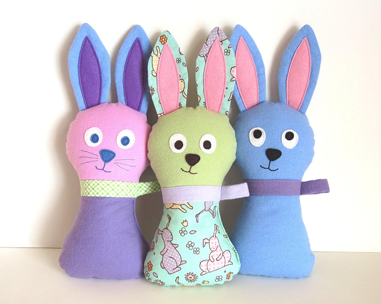 Soft Toy Patterns : Stuffed bunny pattern hoppy loppy pdf sewing soft