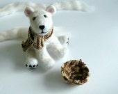 "Reserved  for ""auryane""  -  Needle felted polar bear"
