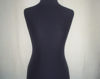 COVER for Mannequin bust torso dress form, Black with Elastin