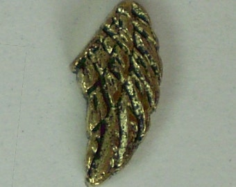 Gold Angel Wing  Floating Charm for Lockets