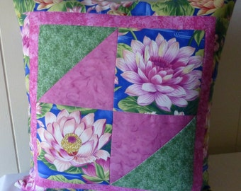 Quilted Pillow Patchwork Quality Decorative Pillow Cover