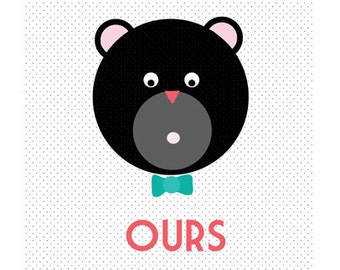 Print - Bear-