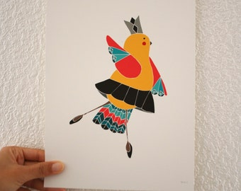 Ballerina Print. Little Bird Ballerina Wall Art