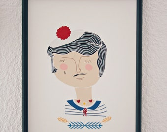 Print- Tattooed Sailor-