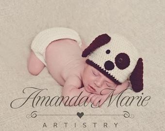 Puppy Dog Crochet Hat/ Beanie
