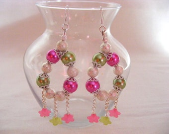 Pearl and Lucite Earrings