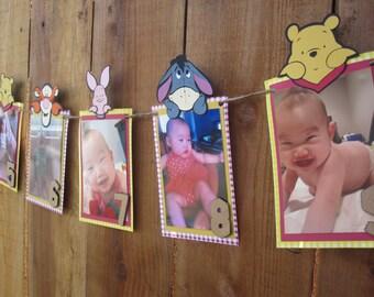 Winnie the Pooh 12 Month Photo Banner