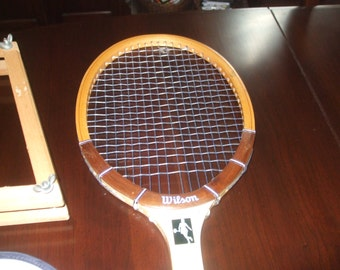 Vtg. Wilson Chris Evert Autograph Tennis Racquet w/Cover & Press