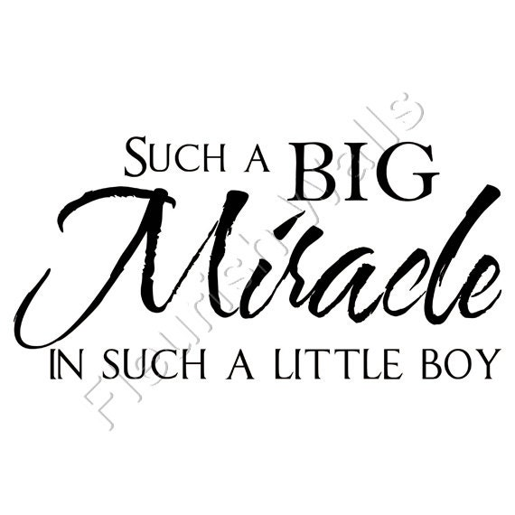 Miracle Baby Quotes: Items Similar To Such A Big Miracle In Such A Little Boy