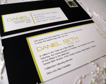 Modern Bar/Bat Mitzvah Invitation