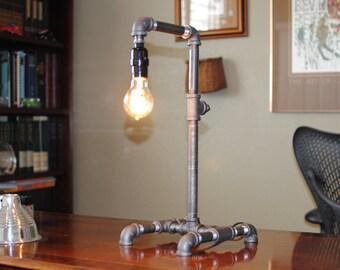 Industrial Lamp Desk Etsy