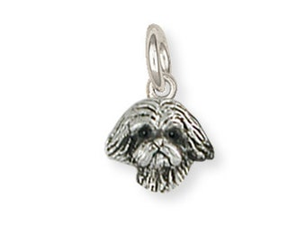 Silver Lhasa Apso Charm Jewelry  LSZ22H-C