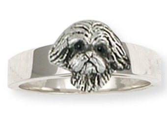 Sterling Silver Shih Tzu Ring Jewelry  SZ22-R