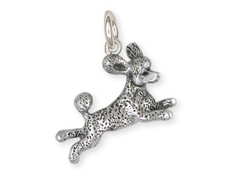 Solid Leaping Poodle Charm PD60-C