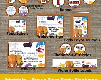 Brown Bear Brown Bear Party Package - DIY - Printable